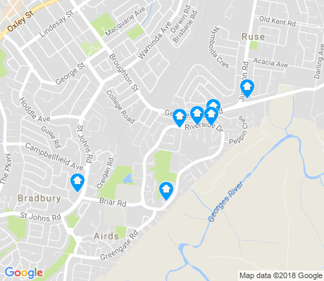 map of Airds apartments for rent
