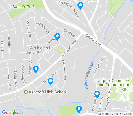 map of Ashcroft apartments for rent