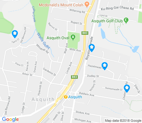 map of Asquith apartments for rent