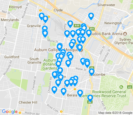 map of Auburn apartments for rent