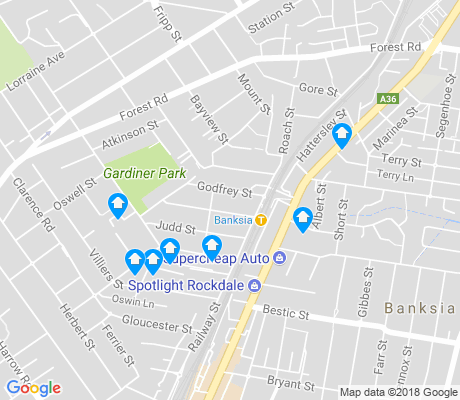 map of Banksia apartments for rent
