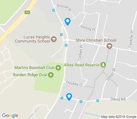 map of Barden Ridge apartments for rent