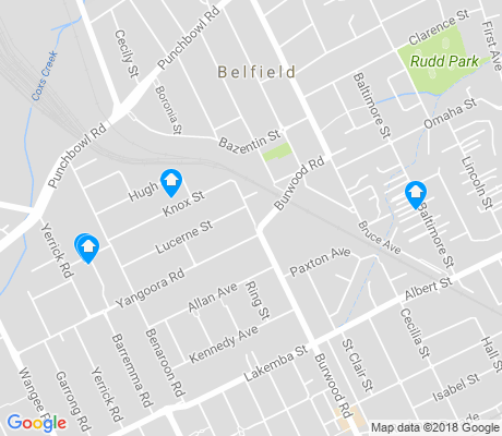 map of Belfield apartments for rent