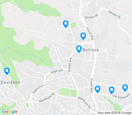 map of Belrose apartments for rent