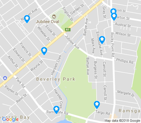 map of Beverley Park apartments for rent