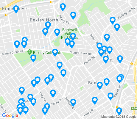 map of Bexley apartments for rent
