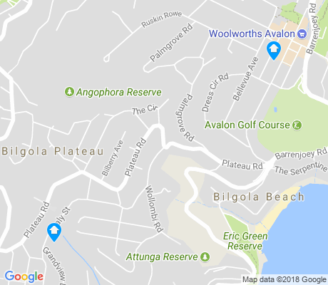 map of Bilgola apartments for rent