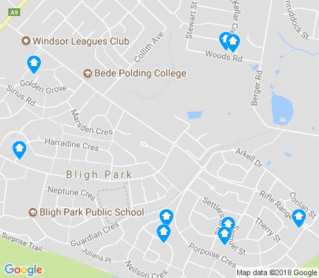 map of Bligh Park apartments for rent