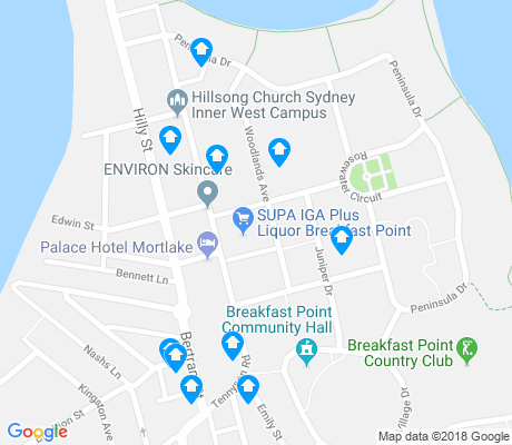 map of Breakfast Point apartments for rent