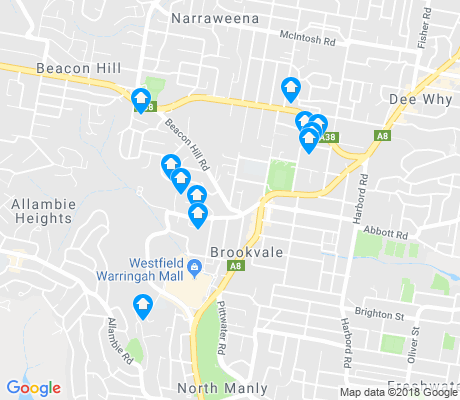 map of Brookvale apartments for rent