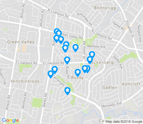 map of Busby apartments for rent