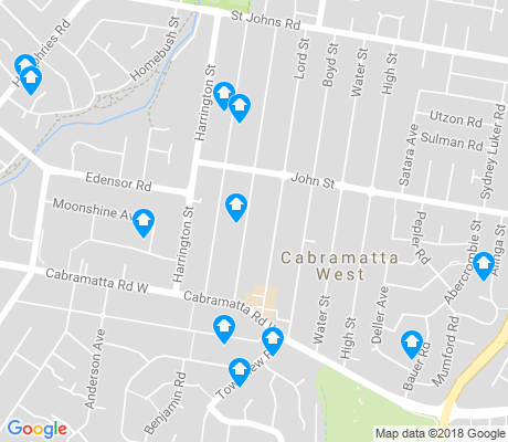 map of Cabramatta West apartments for rent
