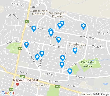 map of Cambridge Park apartments for rent
