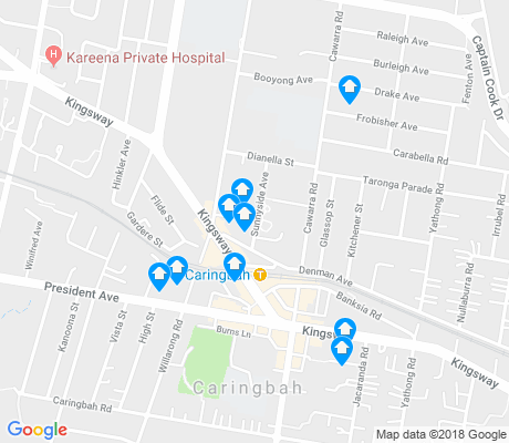 map of Caringbah apartments for rent