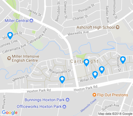 map of Cartwright apartments for rent