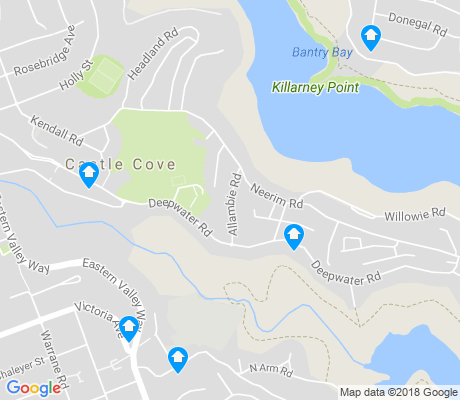 map of Castle Cove apartments for rent
