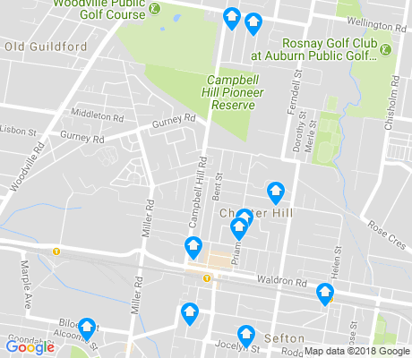 map of Chester Hill apartments for rent