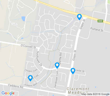 map of Claremont Meadows apartments for rent