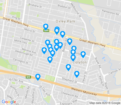 map of Colyton apartments for rent