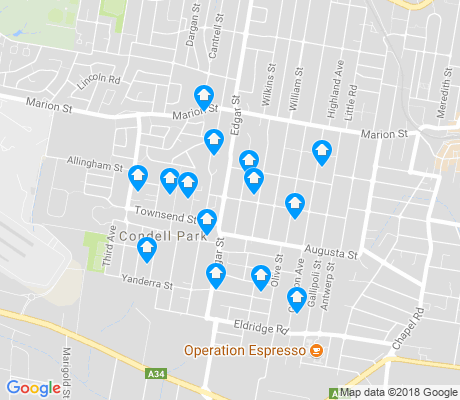 map of Condell Park apartments for rent