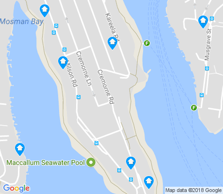 map of Cremorne Point apartments for rent
