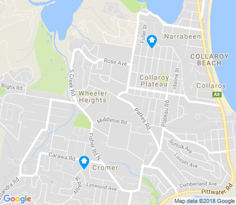 map of Cromer apartments for rent