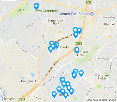 map of Denham Court apartments for rent