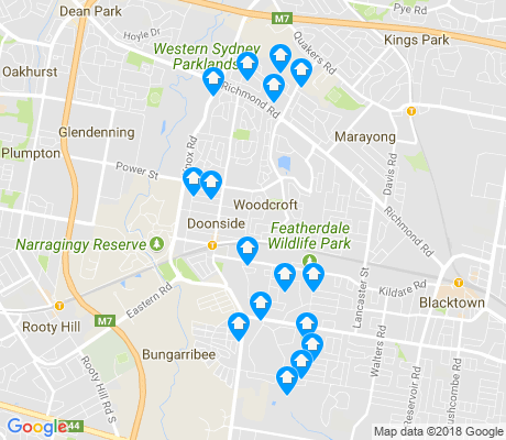map of Doonside apartments for rent