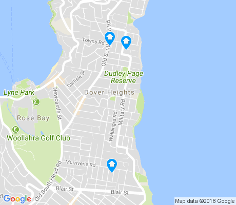 map of Dover Heights apartments for rent