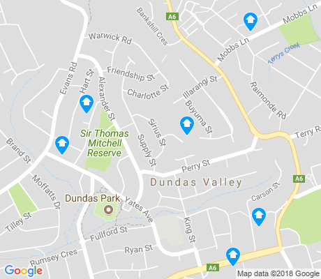map of Dundas Valley apartments for rent