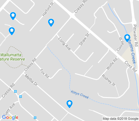 map of East Ryde apartments for rent