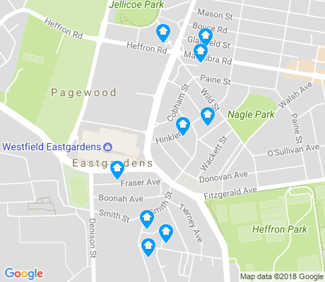 map of Eastgardens apartments for rent