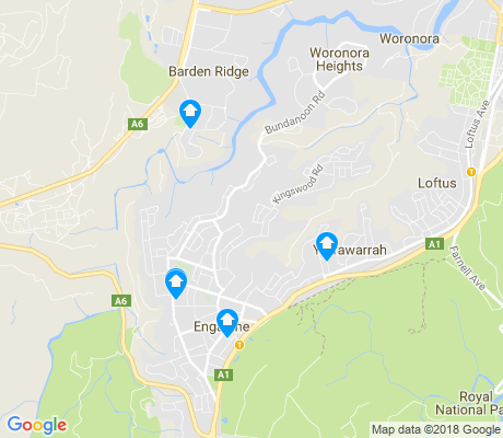 map of Engadine apartments for rent