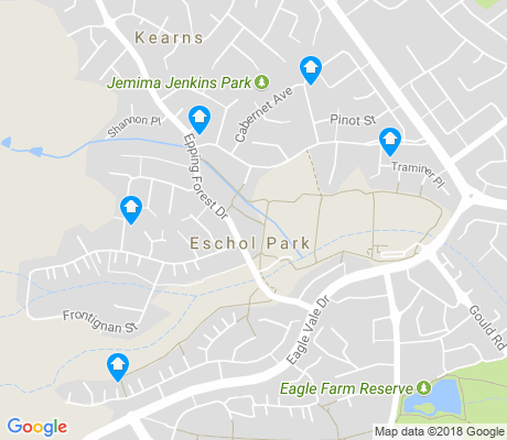 map of Eschol Park apartments for rent