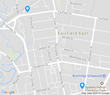 map of Fairfield East apartments for rent