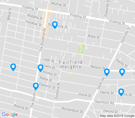 map of Fairfield Heights apartments for rent