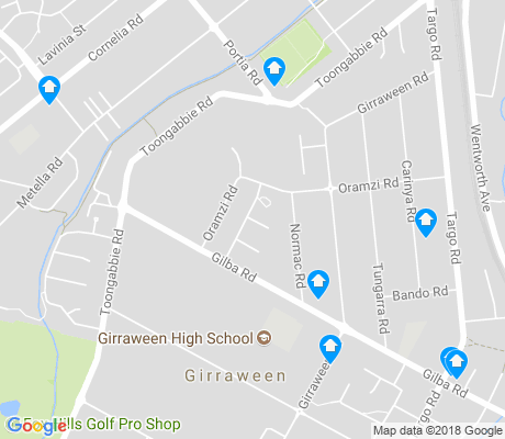 map of Girraween apartments for rent