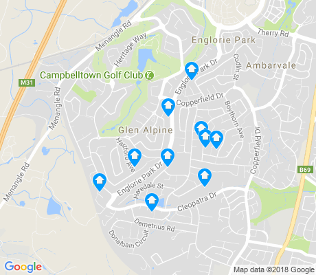 map of Glen Alpine apartments for rent