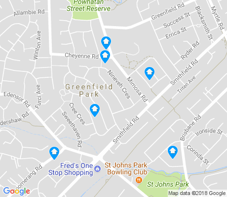 map of Greenfield Park apartments for rent