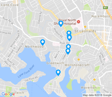 map of Greenwich apartments for rent