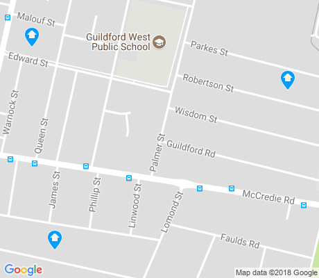 map of Guildford West apartments for rent