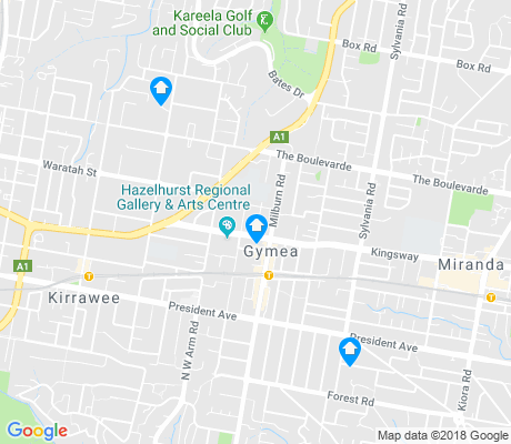 map of Gymea apartments for rent