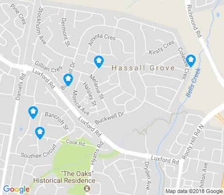 map of Hassall Grove apartments for rent