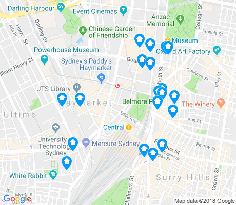 map of Haymarket apartments for rent