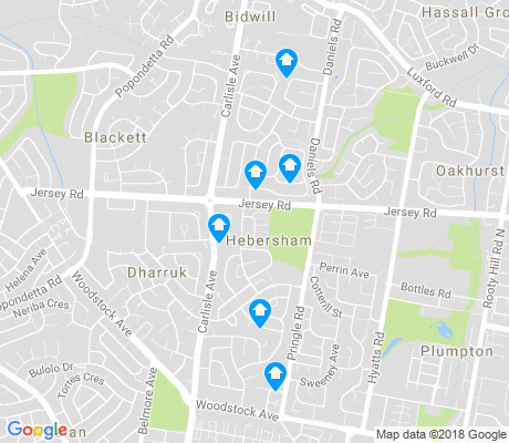 map of Hebersham apartments for rent