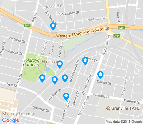 map of Holroyd apartments for rent
