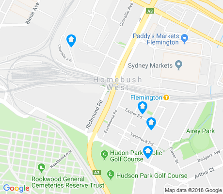 map of Homebush West apartments for rent