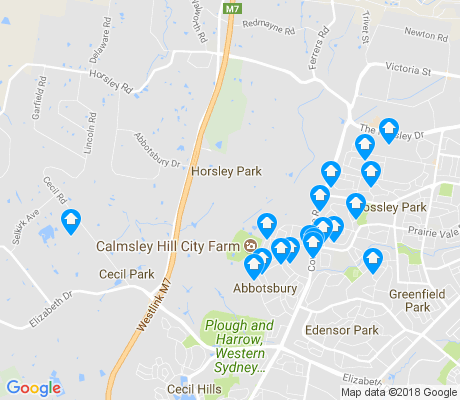 map of Horsley Park apartments for rent
