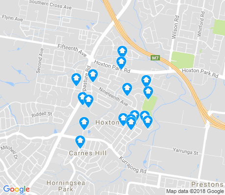 map of Hoxton Park apartments for rent