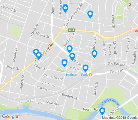 map of Hurlstone Park apartments for rent